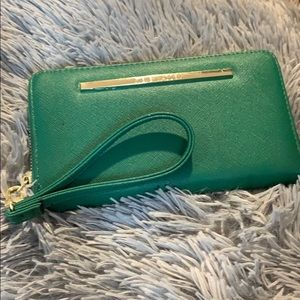 Green wallet clutch
